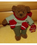 "Hallmark TEDDY MITTENS Plush 12"" Dressed Brown Bear Ready for Winter Hol... - $7.59"