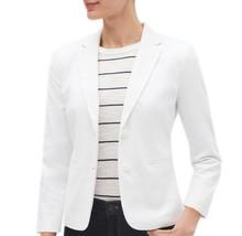 Banana Republic Women's White Stretch Linen Shrunken Blazer, Size 4, 4128-7 - $76.22