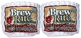 Brew Rite 4 Cup Coffee Basket Disposable Filters - 400 Ct - $10.07