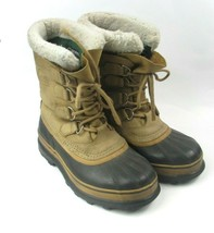 Sorel Caribou Size 7M Tan Black Cold Weather Winter Insulated Boots NL10... - $51.92