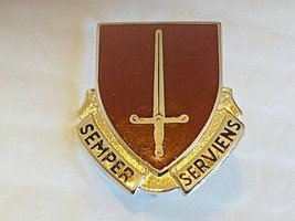 US Military 7th Medical Battalion Insignia Pin - Semper Serviens - $10.00