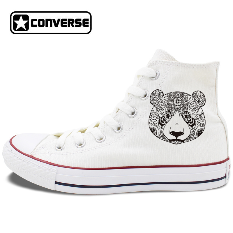2932bda1f011 Design Panda Shoes Totem Animal Converse All Star Canvas Sneakers High Tops