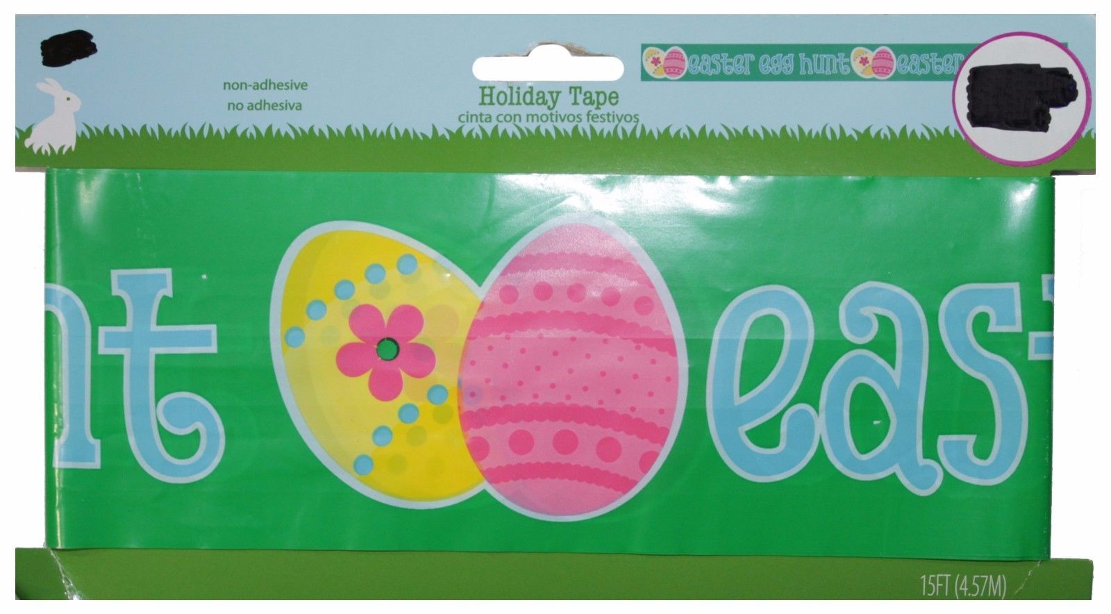 EASTER* 15ft Party/Warning HOLIDAY TAPE For Egg Hunt NON-ADHESIVE *YOU CHOOSE*