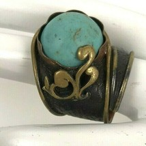 Vintage Hand Crafted Artisan Mixed Metals Brass Ring 6 - $69.25