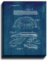 Pizza Pie Making Apparatus Patent Print Midnight Blue on Canvas - $39.95+
