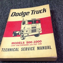 1965 Dodge Truck Low & Tilt Cab 500-1000 Service Shop Repair Manual OEM - $39.59