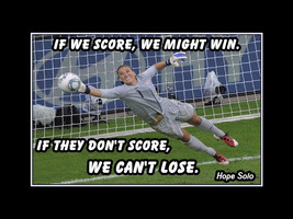 Hope Solo Inspirational Soccer Quote Poster Gift Daughter Motivation Wal... - $19.99+