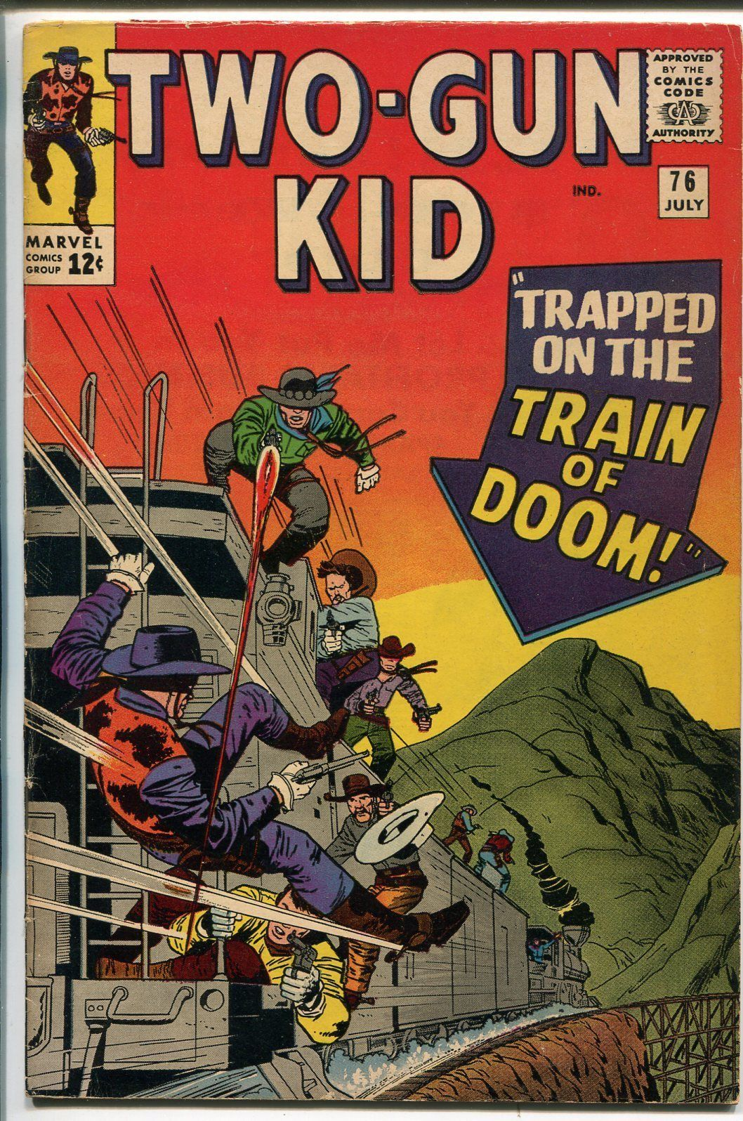 TWO-GUN KID  #76-1965-MARVEL-JACK  KIRBY COVER-fn minus