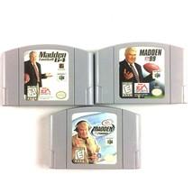 N64 Madden Football 3 Game Lot Madden 64 Madden '99 & Madden 2000 Tested  - $14.80