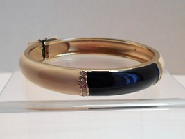 Talbots Navy & Ivory Enamel Rhinestone Bangle Bracelet New With Tags image 1