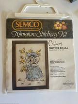 Semco Miniatura stitchery kit Cobbers Madre Koala Australia Vintage Nuov... - $17.81