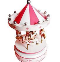 PANDA SUPERSTORE Creative Birthday Gift Cute Carousel Clockwork Musical Box