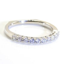Wedding Ring /Anniversary Band Sterling Silver CZ 6 7 8 9  Square Shank ... - $19.98