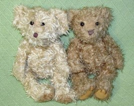 "Russ Berrie Teddy Bear Lot Alexandra & Radcliffe Tan B EAN Bag Plush Animals 10"" - $19.64"