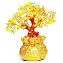 Feng Shui Crystal Wealth Lucky Money Tree Best Gift & Home Good Luck Decoration image 1