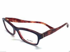 Miu Miu Blau Violett Vorne und Rot Schildplatt Transluzent 02I PC5-1O1 5... - $66.47