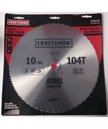 "Craftsman 26813 10"" x 104 Tooth Saw Blade Heat-Treated Steel - $4.46"