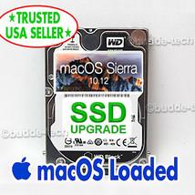 250GB SSD Upgrade Apple Macbook Pro 10.12 Sierra - 2011 2012 A1278 A1286... - $73.50