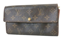Authentic LOUIS VUITTON Sarah Long Wallet Monogram Zippered Coin Purse #... - $125.10