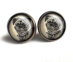 Pug Dog Stud Earrings - $27.19
