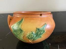 Vintage Roseville Thornapple Pottery Hanging Basket Jardiniere Pot 5 1/4... - $149.00