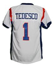 Harmon Tedesco #1 BMS Blue Mountain State New Football Jersey White Any Size image 5