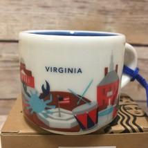 Starbucks Virginia Ornament You Are Here Mount Vernon Mini Mug New - $37.39
