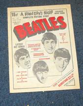 Beatles Songs Hard Day's Night film story Charlton Magazine 1964 rare - $13.99