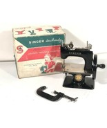 Singer Sewhandy Vintage Blk Model 20 Childs Sewing Machine Made In Great Britain - $296.99