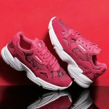 Adidas Falcon Women's Size 8 Pink White Snake Print Shoes - $74.25