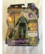 Marvel Avengers Infinity War Black Widow Action Figure Doll w Stone Hasb... - $14.00