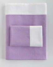 Ralph Lauren FAIRVIEW Purple Stripe White Border KING Flat Sheet NIP MSR... - $72.99