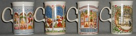 SET (4) DUNOON CERAMICS 10 oz Christmas Themed HANDLED MUGS Made in Scot... - $29.69