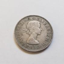 """1965 Great Britain Queen Elizabeth II 1 Schilling  7/8"""" Copper-Nickel Coin - $1.95"""