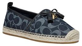 Coach Carson Espadrille Shoes Denim Size 7 - $123.75