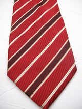 GEOFFREY BEENE  Red STRIPE Made ITALY  Mens 100 SILK Necktie  s 6-61 image 2