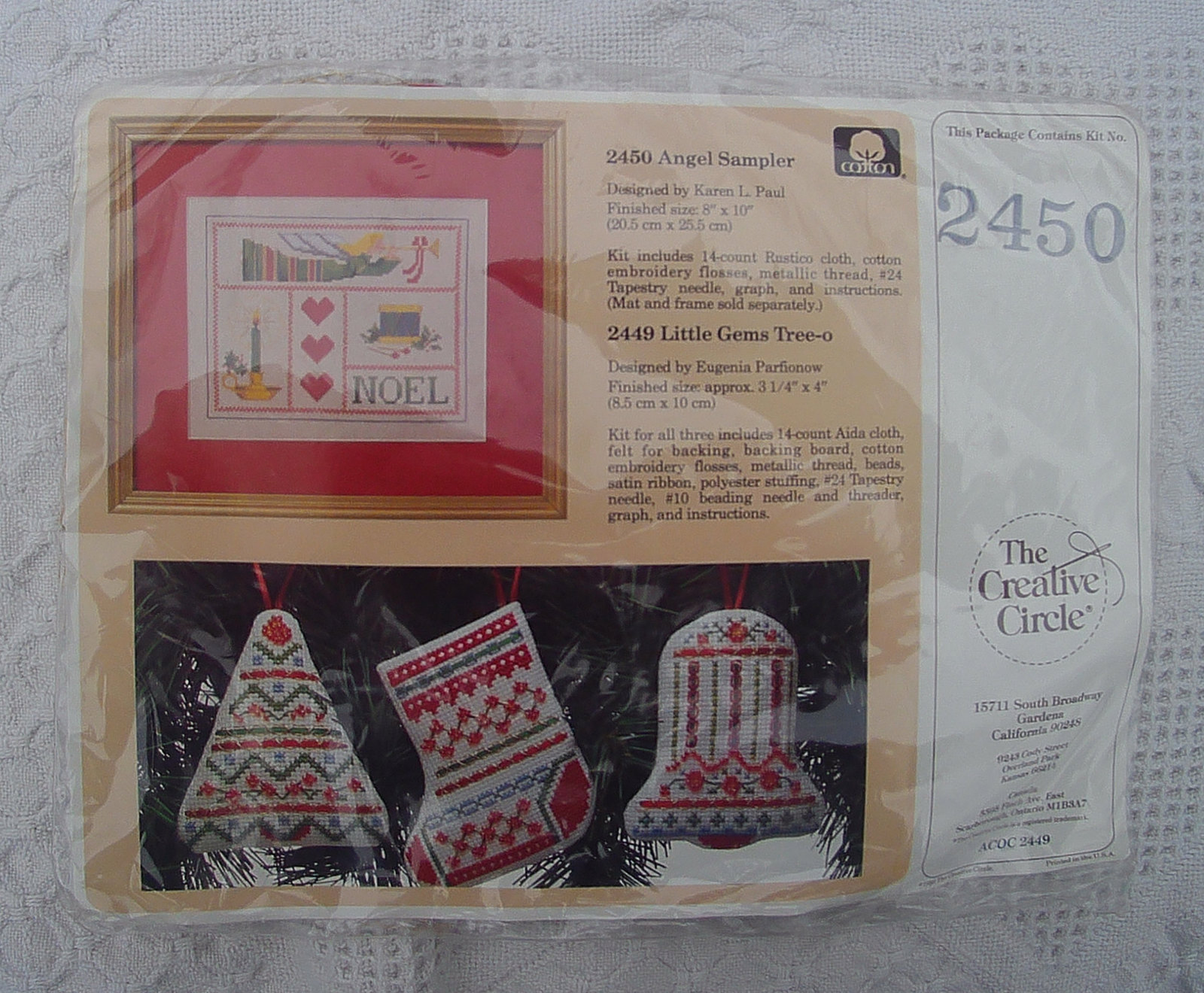 Creative Circle Angel Sampler Cross Stitch Kit #2450  - FACTORY SEALED and Ready - $11.99