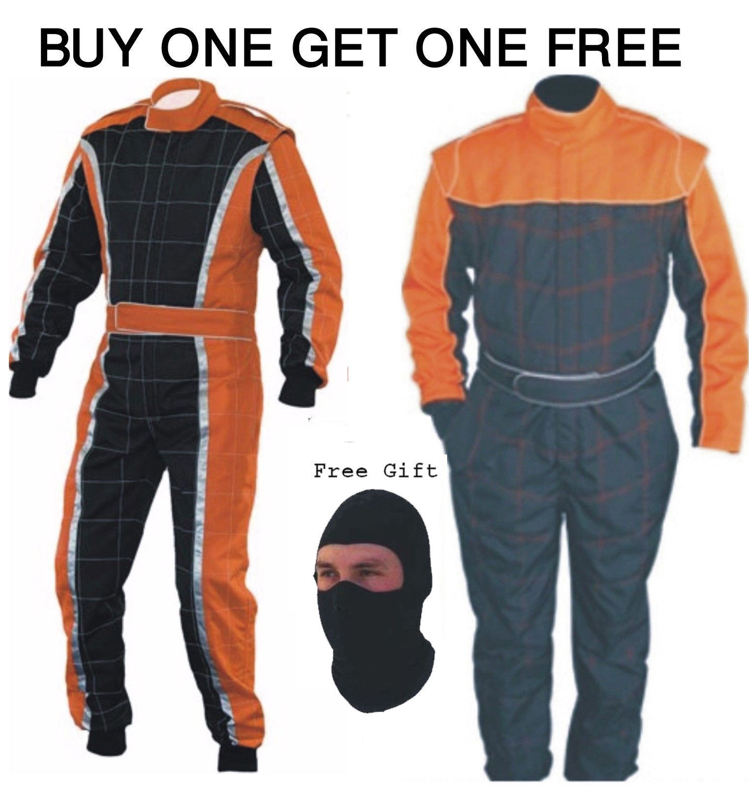 Latest Design Go Kart Race Suit Pack Buy One Get One Free (Free gifts included)