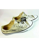 Converse Low-Top Casual Fashion Sneakers 153181F Metallic Gold Size 11 M... - $56.11