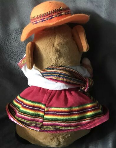 "Gemmy Hamster Mexican Spanish Dressed Girl Dress plush Doll 10"" Rare Gift! image 2"