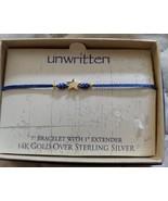 Unwritten 14K Gold over Sterling Silver Star  Bracelet Blue Rope Friendship - $16.65