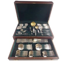Empire by Towle Sterling Silver Flatware Set Service 79 Pieces Vintage Chest - $6,210.00