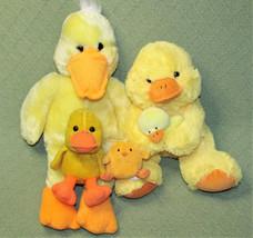YELLOW DUCK Plush LOT Stuffed Animals 1999 Animal Adventure BEAN BAG Hal... - $23.36