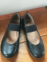 Gently Used Clarks Women's Size 8 Black Leather Mary Jane Style Slip On ... - $18.49