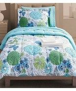 Student Lounge Twin & XL Bed in Bag Blue Floral Comforter Sheet Sets Sha... - $89.99