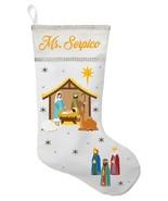 Nativity Christmas Stocking - Personalized and Hand Made Jesus Christmas... - $28.49+
