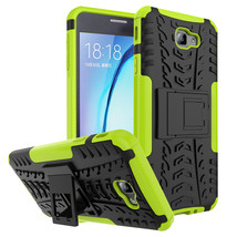 Armor with kickstand Protective Case for Samsung Galaxy On7 (2016) - Green  - $4.99