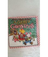 "MARY ENGELBREIT FINISHED COTTON FABRIC BOOK A MERRY LITTLE CHRISTMAS, 9""... - $8.90"