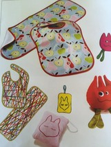 Kwik Sew Sewing Patterns 3812 Baby Infant Bib Burp Cloths Pillows Toys New - $16.47