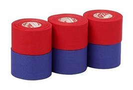 Mueller Athletic Tape Sports Tape, Red and Blue 6 rolls - $17.83